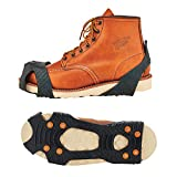 Ergodyne TREX 6300 Slip-On Traction Cleats for Snow and Ice with 8 Carbon Steel Spike Grips