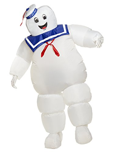Spirit Halloween Adult Stay Puft Ghostbusters Inflatable Costume | Officially Licensed