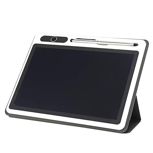 Practical Writing Tablet Bright Low Power Drawing Board, Flexible Study Business Meetings(Black (with Leather case))