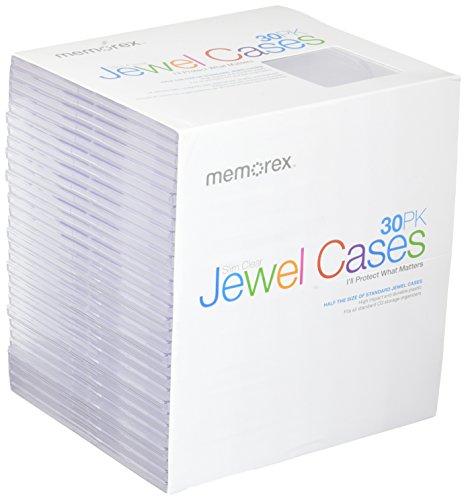 Memorex Clear Slim Jewel Cases, 30 Pack