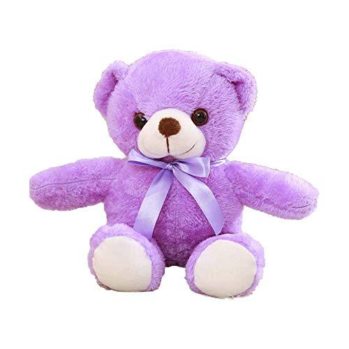 Teddy Bear Plush - Cute Teddy Bears Stuffed Animals Bear Plush Toy Doll, Gift for Girlfriend Kids Birthday Valentine, 11.8''/13.7''(S,Purple)