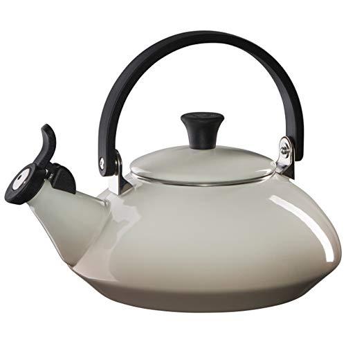 Le Creuset Enamel On Steel Zen Tea Kettle, 1.6 qt., Meringue