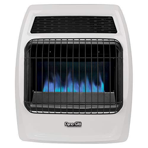 Dyna-Glo BFSS20NGT-2N 20,000 BTU Natural Gas Blue Flame Thermostatic Vent Free Wall Heater, White