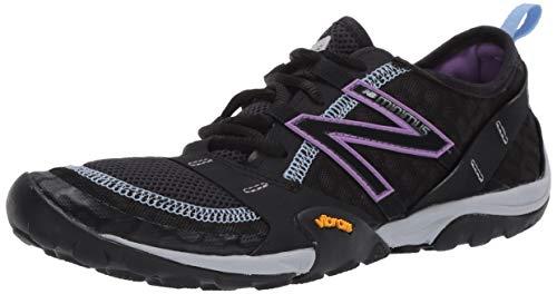 New Balance Women's Minimus 10 V1 Trail Running Shoe, Black/Neo Violet, 8 M US