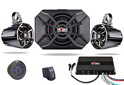 NOAM NUTV5-S V.2 - ATV/Golf Cart/UTV Waterproof Speakers Bluetooth 2.1 Marine Stereo System