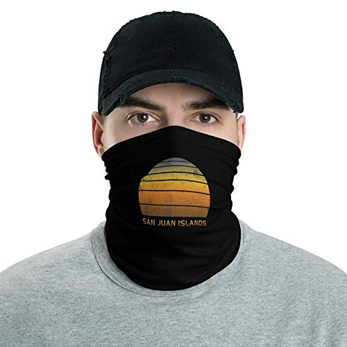 Retro San Juan Islands Neck Gaiter Face Mask