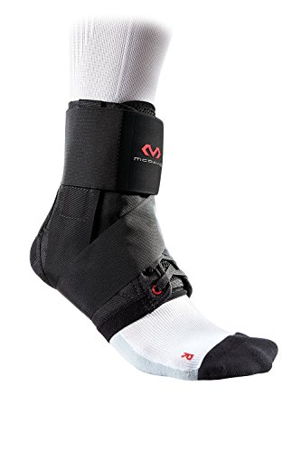 McDavid 195R-BK-M Ankle Brace Support/w Stabilizer Straps, Prevent and Recover from Ankle sprains, Black, Medium