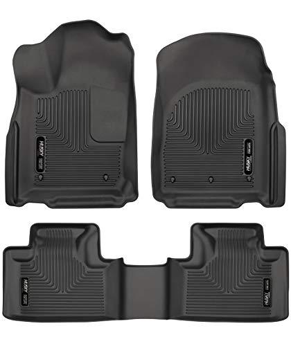 Husky Liners 99151 Black Weatherbeater Front & 2nd Seat Floor Liners Fits 2016-2019 Dodge Durango, 2016-2019 Jeep Grand Cherokee