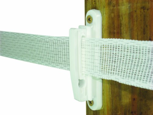 Field Guardian Wood Post Polytape Nail-On Insulator, 2-Inch, White