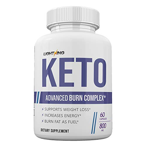 Lightening Keto - Advanced Burn Complex - Exogenous Ketones - 60 Capsules - 800MG - 30 Day Supply