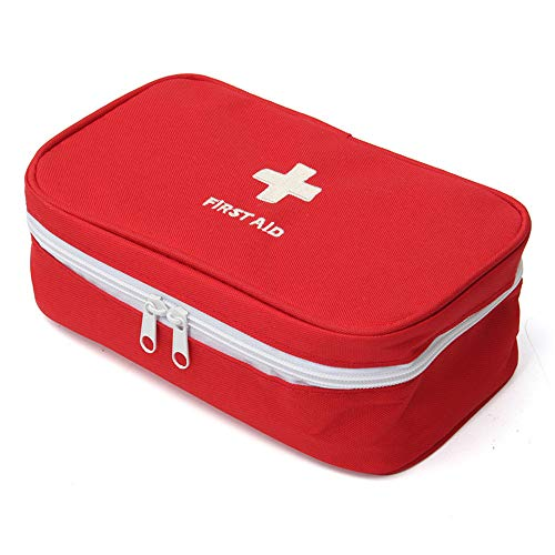 King&Pig Portable Empty First Aid Bag Kit Pouch Home Office Medical Emergency Travel Rescue Case Bag Medical Package (red, L)