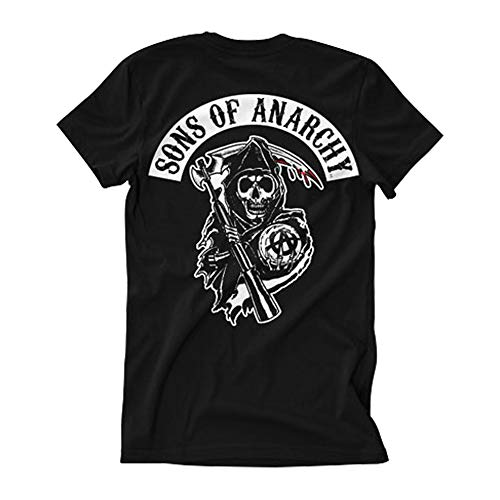 Sons of Anarchy Officially Licensed Merchandise SOA Backpatch T-Shirt (Black), X-Large