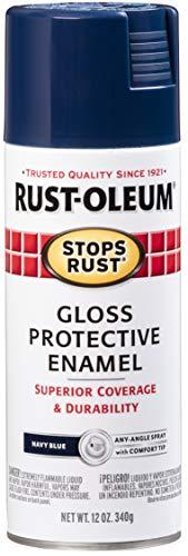 Rust-Oleum 7723830 Stops Rust Spray Paint, 12-Ounce, Gloss Navy