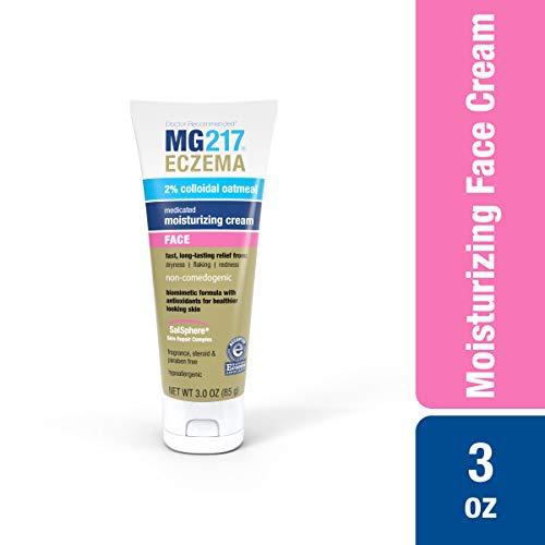 MG217 Moisturizing Medicated Eczema Face Cream with 2% Colloidal Oatmeal - 3 oz