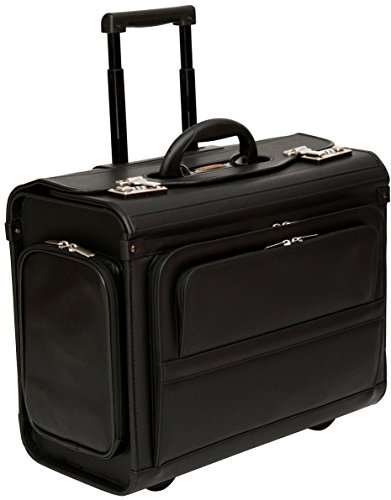 Wheeled Pilot Case Rolling 17.3' Laptop Roller Bag Briefcase Hand Luggage Flight Cabin