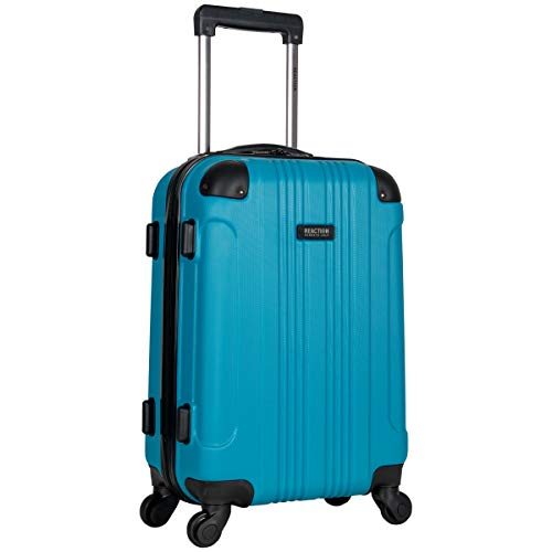Kenneth Cole Reaction Out Of Bounds 20-Inch Carry-On Lightweight Durable Hardshell 4-Wheel Spinner Cabin Size Luggage, Teal