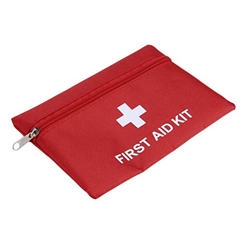 Small First Aid Kits Empty, Mini First Aid Bag Pouch Compact Survival Medicine Bag for Home Office Car Businesses Camping(Empty Bag) (Mini Pocket Type, 6.3x4.3Inch)