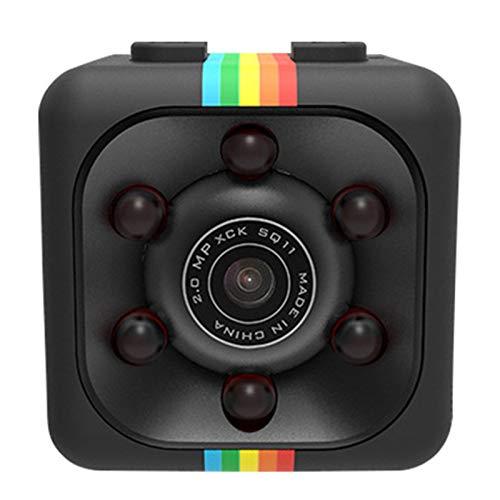 E-dance Spy Camera,Mini HD Camera Wireless Web Camera 1080P/720P Infrared Night Vision Home Camera Camera for Home Car Indoor Outdoor Security 2.22.22.2cm(Black-2)