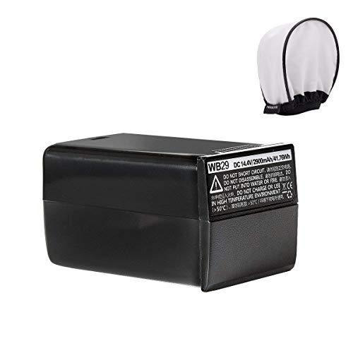 Godox AD200Pro Battery, Godox AD200 Pro WB29 14.4V 2900mAh 41.76Wh Lithium Battery for Godox AD200 Pro AD200Pro AD200, W/Pergear Diffuser