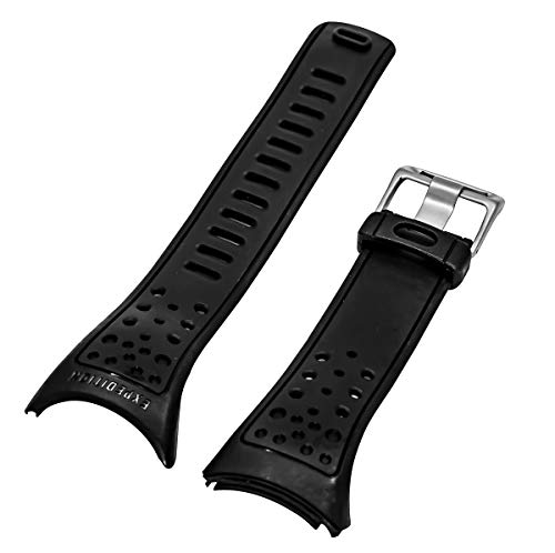 TIMEX Expedition Black Resin Watch Strap   Band for Adventure Tech Altimeter Barometer T41501 T41531 T41521