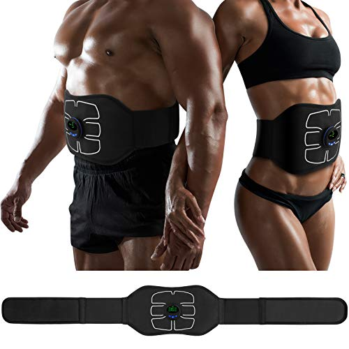 MarCoolTrip MZ ABS Stimulator,Ab Machine,Abdominal Toning Belt Workout Portable Ab Stimulator Home Office Fitness Workout Equipment for Abdomen/Arm/Leg