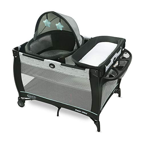 Graco Pack 'n Play Travel Dome Playard, Includes Travel Bassinet, Full-Size Infant Bassinet, and Diaper Changer, Archie