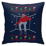 Hotline Bling Santa Drake Dancing Christmas Knit Pattern Pillowcase, Double-Sided Printing, Hidden Zip Pillowcase, Beautiful Printed Pattern Pillowcase 18inch18inch