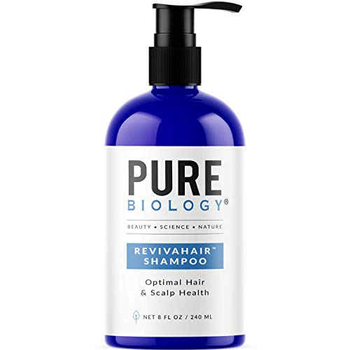 Pure Biology Premium Revivahair Biotin Shampoo for Hair Growth & Clinically Proven Procapil – DHT Blocker Thickening Shampoo for Thinning Hair and Hair Loss, Volumizing Shampoo for Men and Women