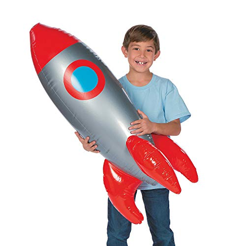 Fun Express Large Inflatable Rocket Spaceship - Space Toys