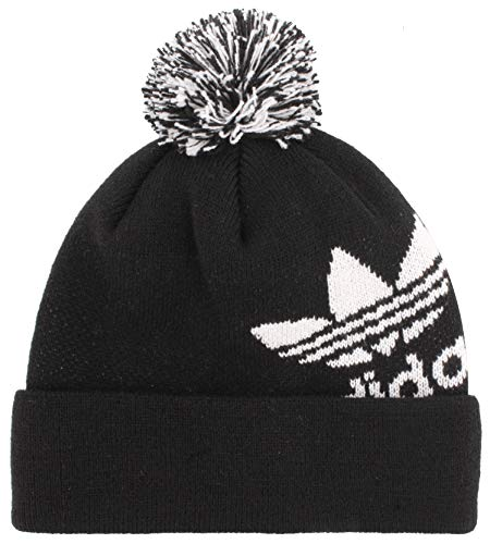 adidas Originals Unisex Pom II Ballie Beanie, Black/White, 0