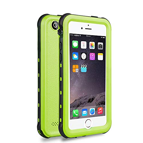 iPhone 5 5S SE Waterproof Case, IP68 Certified Waterproof Shockproof Dirtproof Snowproof Heavy Duty Protective Cover, Full Sealed Case with Built-in Screen Protector for iPhone 5 5S SE (Green)