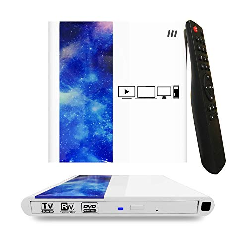 External CD DVD Drive for TV and Laptop,COOPSION USB 3.0 Ultra Portable 1080P Full-HD Media Player and DVD Drive CD/DVD +/-RW ROM Writer/Rewriter Burner/Player Reader compatible with Macbook Laptop TV