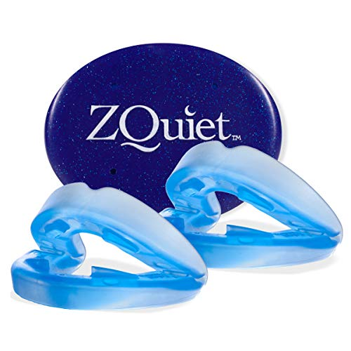 ZQUIET Anti-Snoring Mouthpiece Solution, 2-Size Comfort System Starter Kit -Made in USA & FDA Cleared Natural Sleep Aid Device, Dentist Designed Oral Appliance