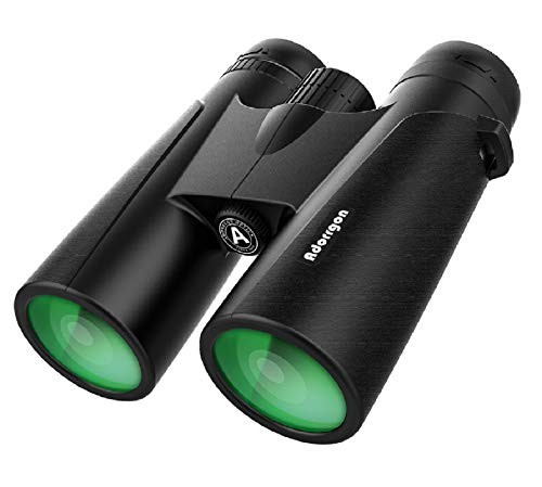 12x42 Powerful Binoculars for Adults with Clear Low Light Vision -Large View Eyepiece Binoculars for Birds Watching Hunting Travel