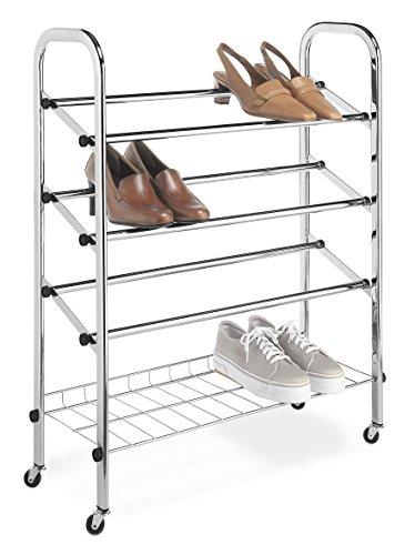 Whitmor Adjustable Rolling Shoe Rack