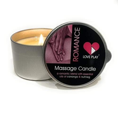 Romance Massage Candle a Romantic Blend with Essential Oils, Cananga and Nutmeg, 6.76 Fl Oz