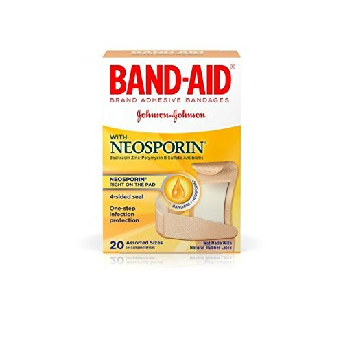 BAND-AID With Neosporin Bandages Assorted Sizes 20 Each ( Pack of 4)