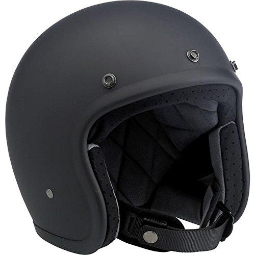 Biltwell Inc. Bonanza Flat Black Open Face Helmet Small