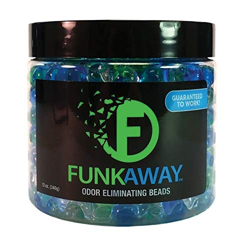 FunkAway Odor Eliminating Beads, 12 oz | Supercharged Odor Absorbing Beads for the House, Car, or Gym | Eliminate Smoke, Pet, and Bathroom Odors | Long Lasting