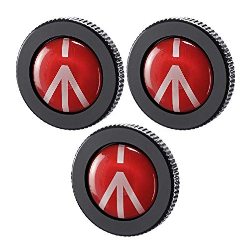 Manfrotto Round Quick Release Plate for Compact Action Tripods (3-Pack)