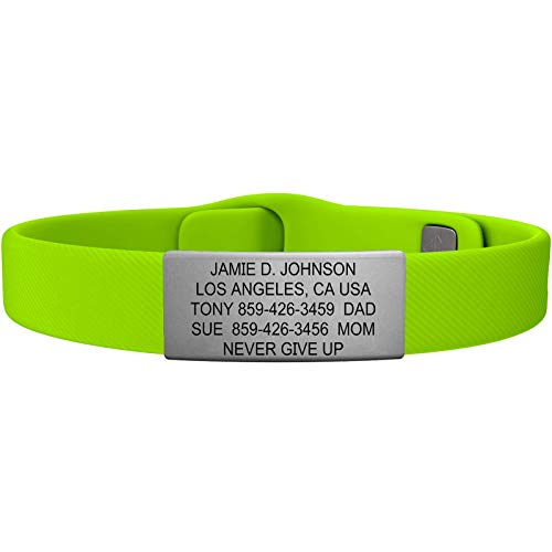 Road ID - Official ID Bracelet - The Wrist ID Elite - 13mm Wide - Silicone Pin-Tuck - for Athletes - 4 Colors