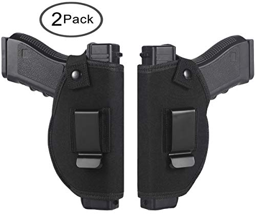 TACwolf 2PC Holster Universal Right Left IWB OWB for Inside Concealed Carry Holster for S&W M&P Shield Glock 17 19 23 25 26 27 29 30 32 33 38 42 43 Springfield XD XDS Ruger