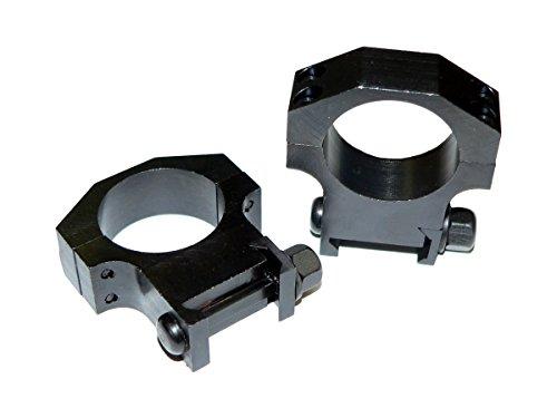 ITT 30mm Scope Rings, Sniper Grade Heavy Duty Tactical Steel for Picatinny Weaver Style Rail