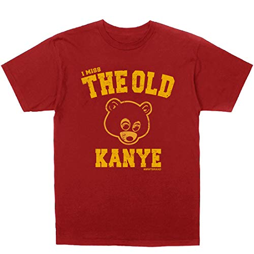 Kanye West I Miss The Old Kanye College Dropout T-Shirt + Hip-Hop Stickers (S) Red