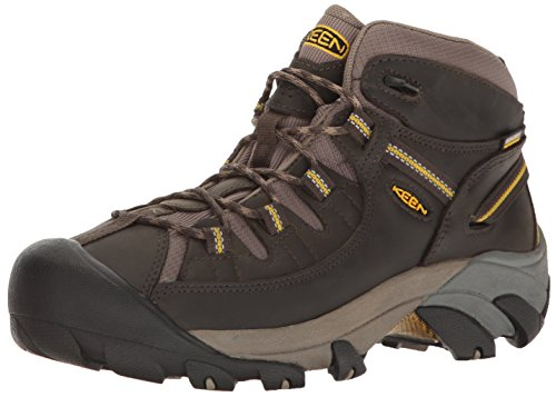 KEEN Men's Targhee II Mid Wide Outdoor Boot, Black Olive/Yellow, 11 W US