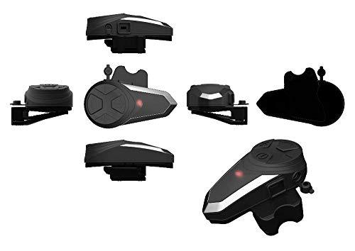 Motorcycle Bluetooth Intercom Communication System BT-S3 Interphone Moto Helmet Bluetooth Headset Wireless Intercom Headset (FM Radio/Waterproof/Handsfree/Range-1000M) (1pack for Full-face Helmet)
