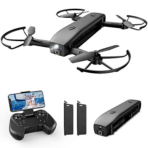 Holy Stone HS161 Drone with Camera for Adults 1080P FHD, FPV Foldable Drones with Optical Flow Positioning, Gesture Control, Handheld Camera, Power Bank and Flashlight Mode, 2 Modular Batteries