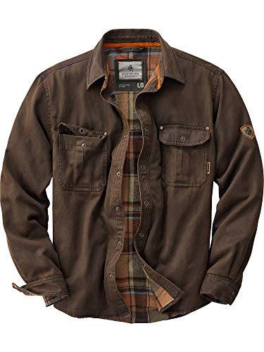 Legendary Whitetails Mens Journeyman Rugged Shirt Jacket, Tobacco, XX-Large Tall