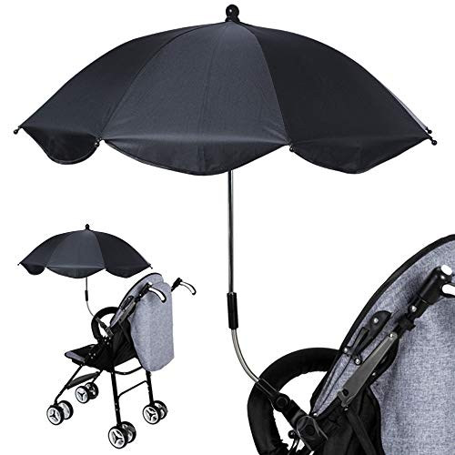 Clamp-On Shade Umbrella with Umbrella Clip Fixing Device for Beach Chairs, Bleachers, Strollers, Wagons, Wheel Chairs