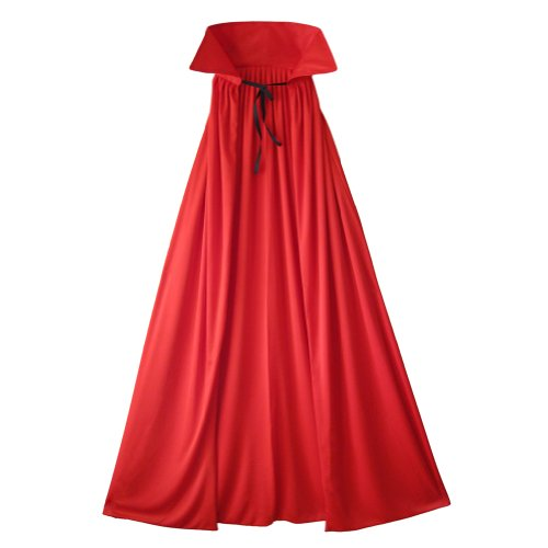 54' Fully Lined Deluxe Red Cape ~ Halloween Costume Accessories (STC11510-54)